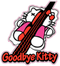 Наклейка Goodbye Kitty 2
