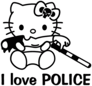Наклейка Hello Kitty - I love police