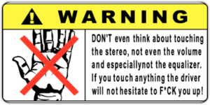 Warning Dont touch Stereo