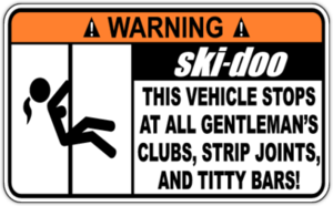 Наклейка Warning Ski-doo