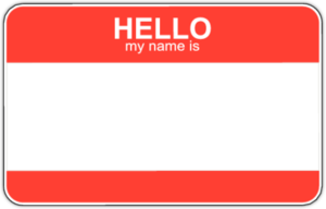 Hello My Name Is (Red)