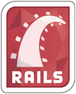 Наклейка Ruby on Rails